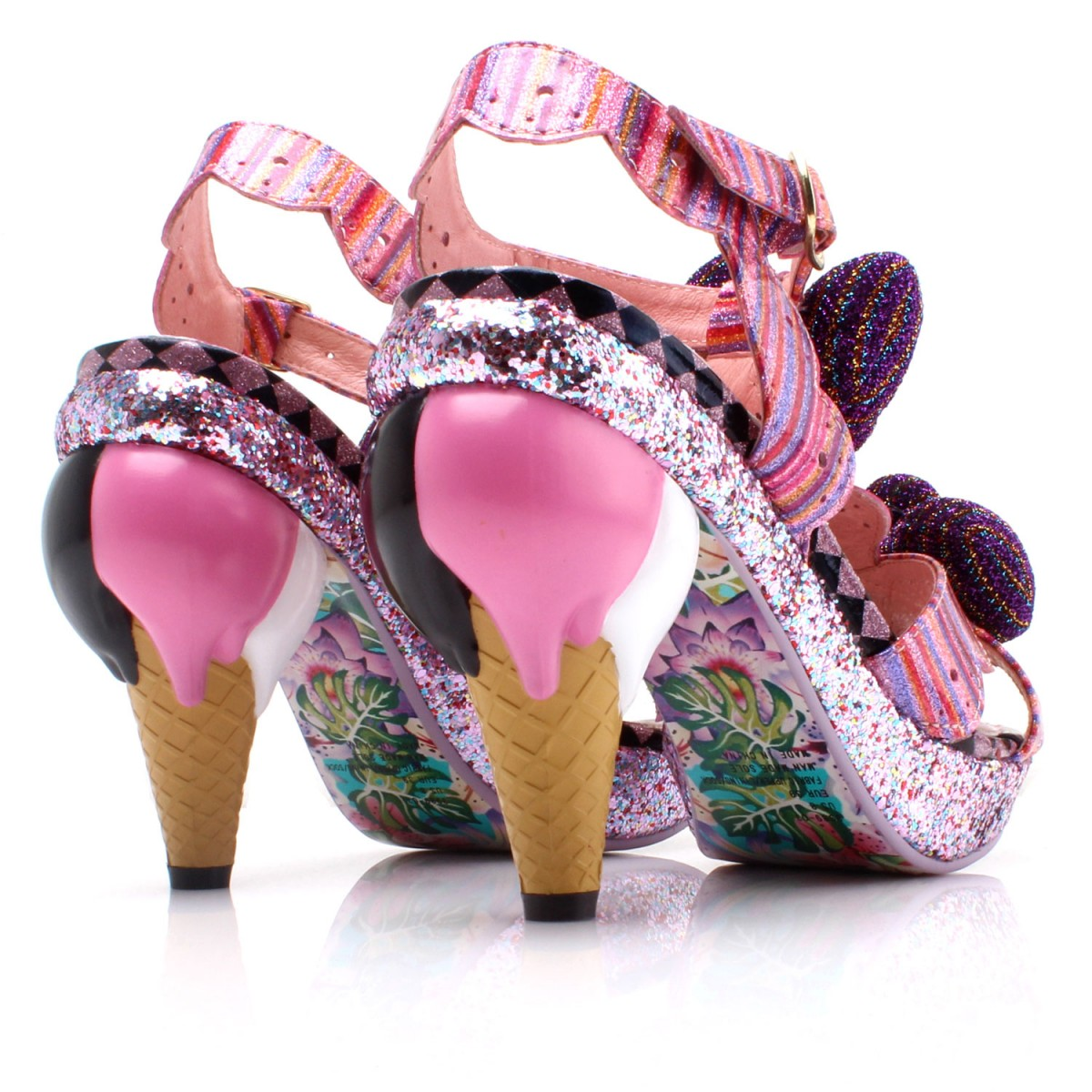 irregular-choice-nicka-bocka-glory-pink-white-purple-glitter-ice-cream-heels-bow-detail-4