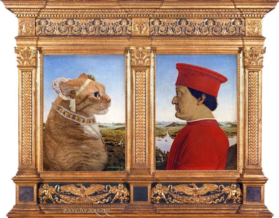 Urbino-Dyptic-framed-cat-w