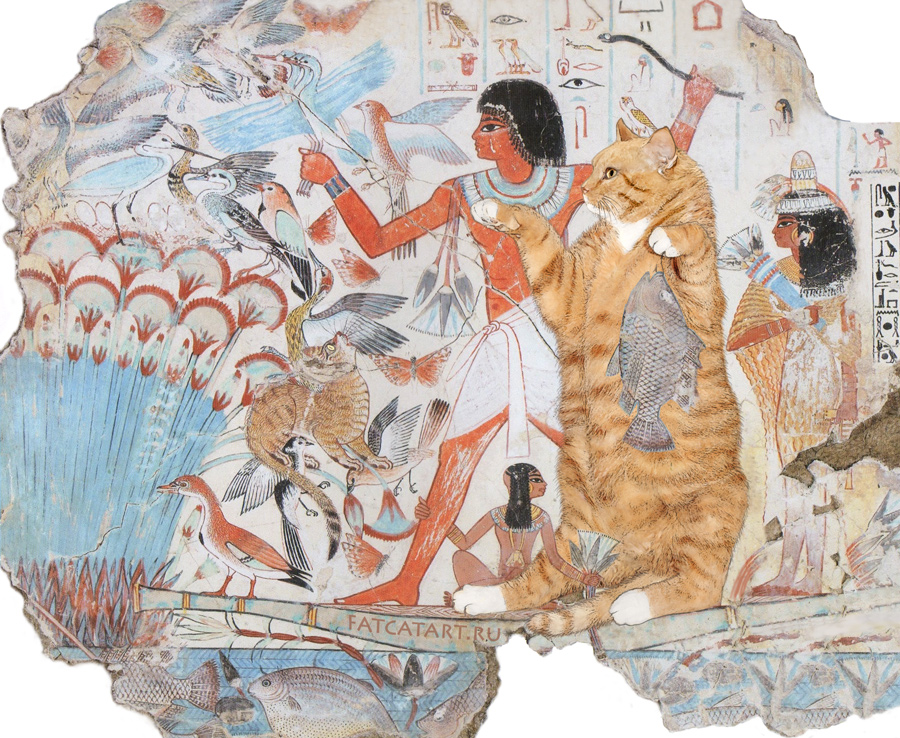 Tomb-of-Nebamun-Hunting-cat-w