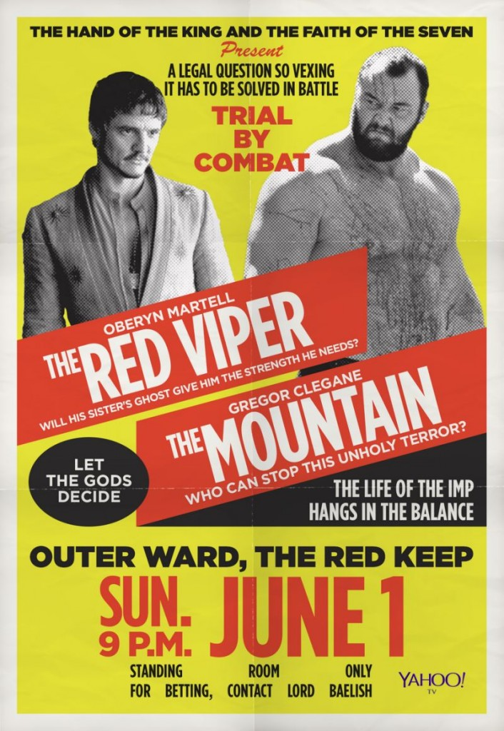 OBERYN MARTELL: THE RED VIPER VERSUS GREGOR CLEGANE: THE MOUNTAI